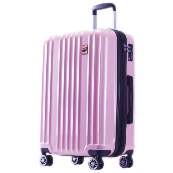 スーツケース Mサイズ 中型 軽量 旅行用品 キャリーバッグ ハードケース ファスナー|bbmonsters|24