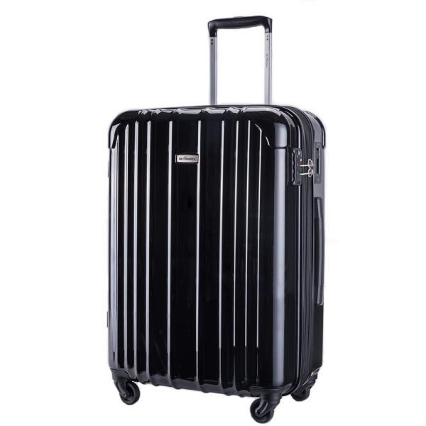 スーツケース 大型 軽量 ハードケース キャリーバッグ キャリーケース ファスナー 日乃本錠前 グリスパック キャスターストッパー 5泊〜10泊|bbmonsters|08