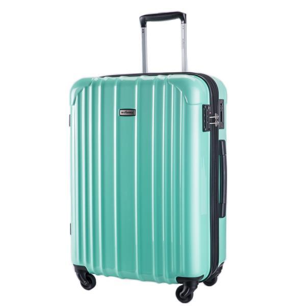 スーツケース 大型 軽量 ハードケース キャリーバッグ キャリーケース ファスナー 日乃本錠前 グリスパック キャスターストッパー 5泊〜10泊|bbmonsters|10