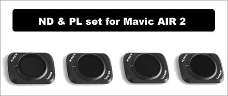 KANIフィルター DJI MAVIC AIR2用 NDフィルター