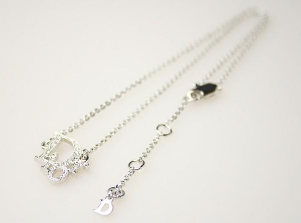 buy online 38ce8 57268 Christian Dior ロゴ ネックレス シルバー D21143