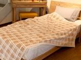 オーガニックコットン ブラウンチェック綿毛布