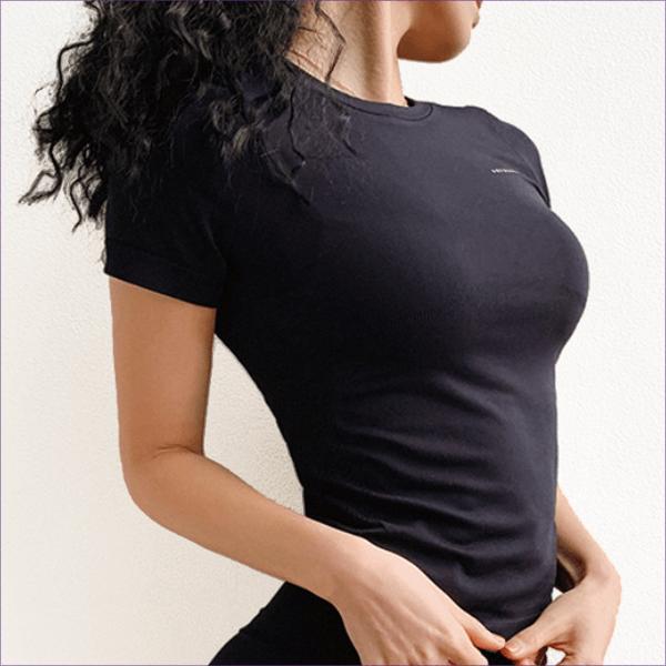 スポーツウェア おしゃれ トップス レディース ヨガ ホットヨガ ピラティス フィットネス ジム 半袖 Tシャツ ブランドロゴ かっこいい 送料無料|befun|22