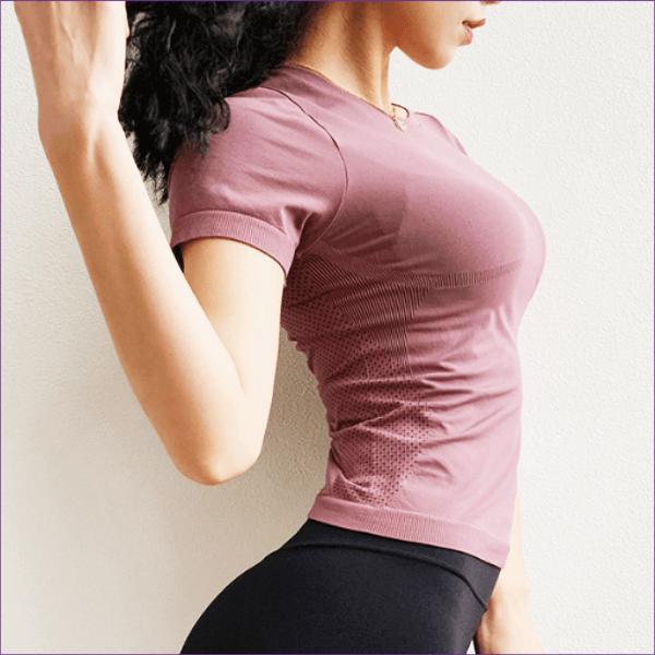スポーツウェア おしゃれ トップス レディース ヨガ ホットヨガ ピラティス フィットネス ジム 半袖 Tシャツ ブランドロゴ かっこいい 送料無料|befun|23