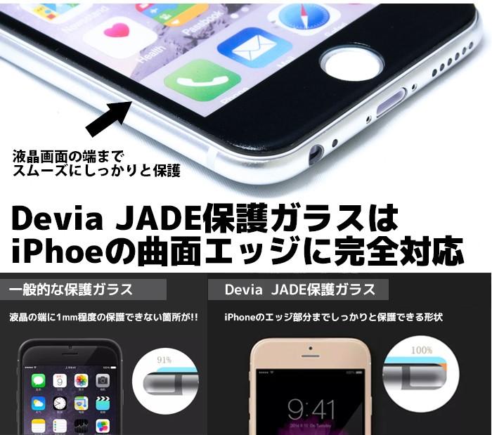 Devia  JADE液晶保護フィルムのエッジ強調画像