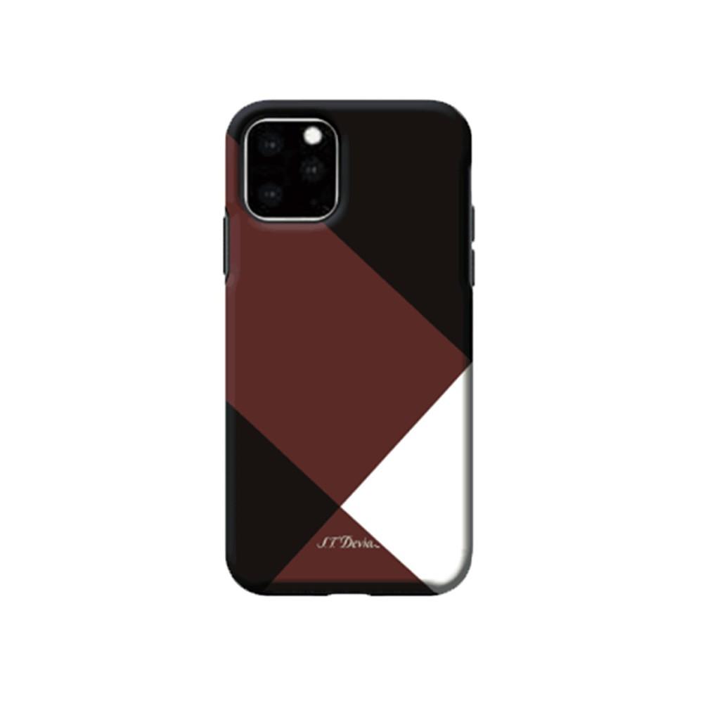 2019 iPhone 5.8 ハイブリッドケース 新端末に良く似合う モダン調 カラーブロッキングデザインケース/Simple style grid case