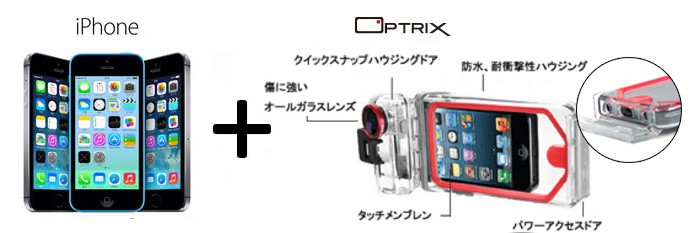 iPhone,防水ケース,optrix,オプトリクスiPhone5,人気ケース