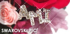 スワロフスキー文字ピック