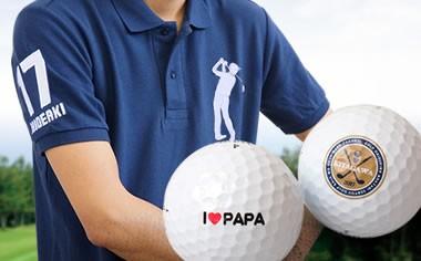 お名前入りオリジナルポロシャツ&名入れゴルフボールギフトセット
