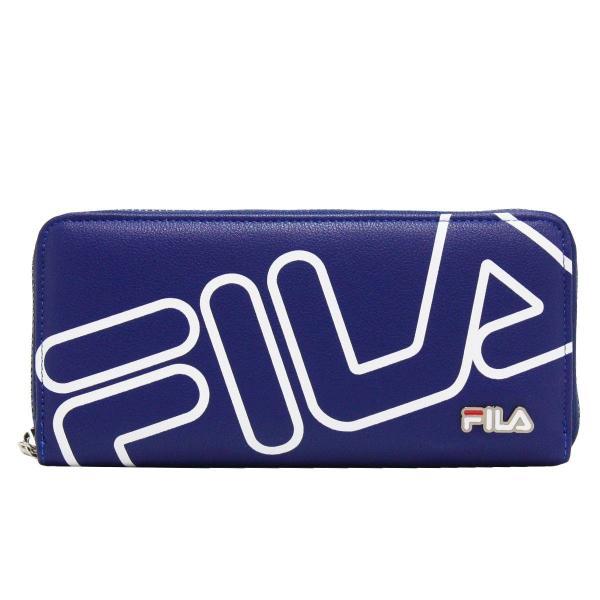 フィラ FILA ビッグロゴ ラウンド財布 財布 長財布 ウォレット ブラック