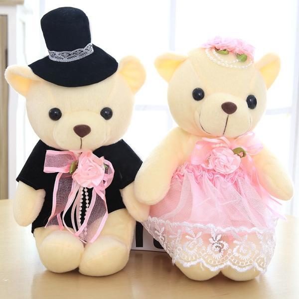 結婚式 ぬいぐるみ ウェディング くま クマ 熊 お祝い プレゼント 贈り物 花屋 飾り物 25cm|beluhappines|15