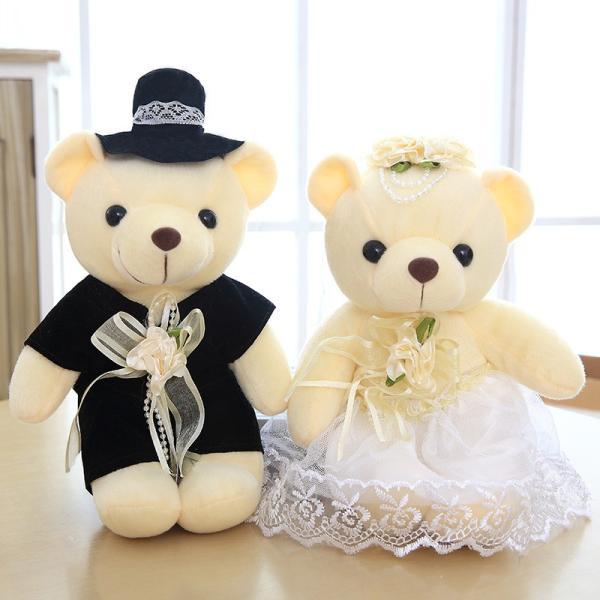 結婚式 ぬいぐるみ ウェディング くま クマ 熊 お祝い プレゼント 贈り物 花屋 飾り物 25cm|beluhappines|14