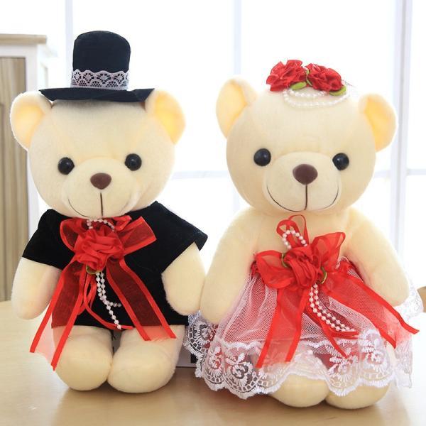 結婚式 ぬいぐるみ ウェディング くま クマ 熊 お祝い プレゼント 贈り物 花屋 飾り物 25cm|beluhappines|17