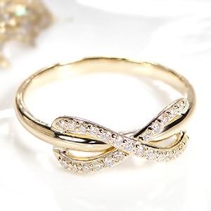 商品画像1 k18YG インフィニティ ダイヤモンド リング