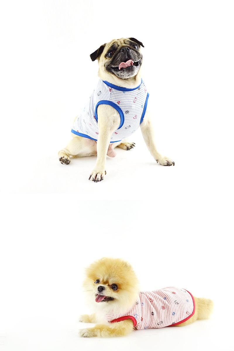 べストフレンズ BestFriends 犬服 犬の服 ドッグウェア ボーダー マリン いかり プリント タンクトップ ノースリーブ クール