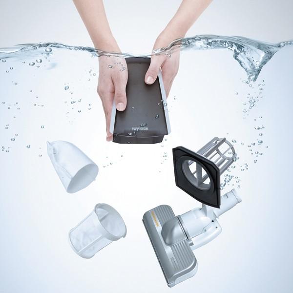 アイリスオーヤマ 充電式スティッククリーナー(リチウムイオン・LEDライト付) 丸洗い可能 ダストカップ