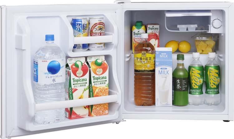 冷蔵庫れいぞうこ料理調理一人暮らし独り暮らし1人暮らし家電食糧冷蔵保存保存食食糧白物単身れいぞうコンパクトキッチン台所寝室リビングノンフロン冷蔵庫1ドア42L(左)ホワイトAF42L-Wアイリスオーヤマ