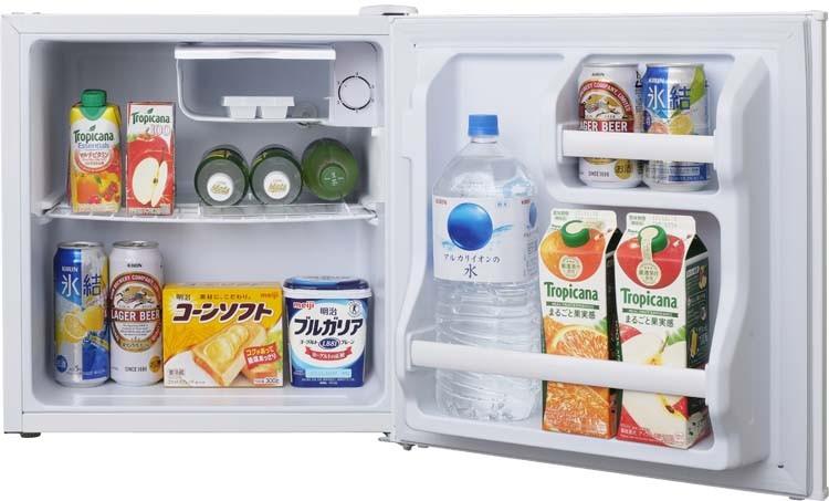 冷蔵庫れいぞうこ料理調理一人暮らし独り暮らし1人暮らし家電食糧冷蔵保存保存食食糧白物単身れいぞうコンパクトキッチン台所寝室リビングノンフロン冷蔵庫1ドア42L(右)ホワイトAF42-Wアイリスオーヤマ