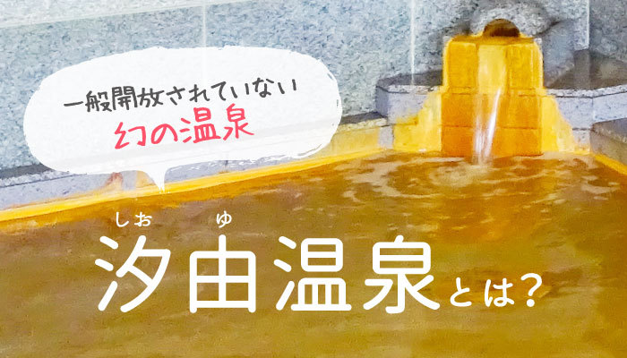 一般開放されていない幻の温泉 汐由温泉とは?