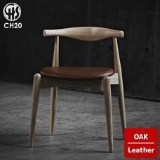 ELBOW CHAIR CH20 Oak Leather CARL HANSEN & SON