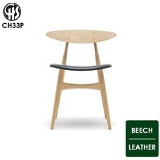 CH33P BEECH-レザー座面 CARL HANSEN & SON