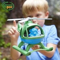 ヘリコプター グリーン 【green toys】