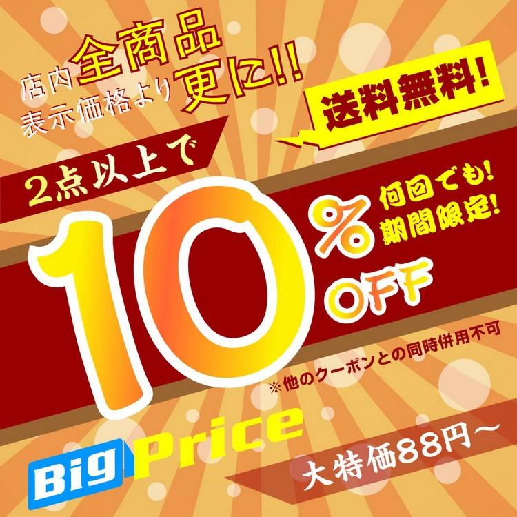【全商品対象】10%OFFクーポン!!しかも店内全品送料無料!!