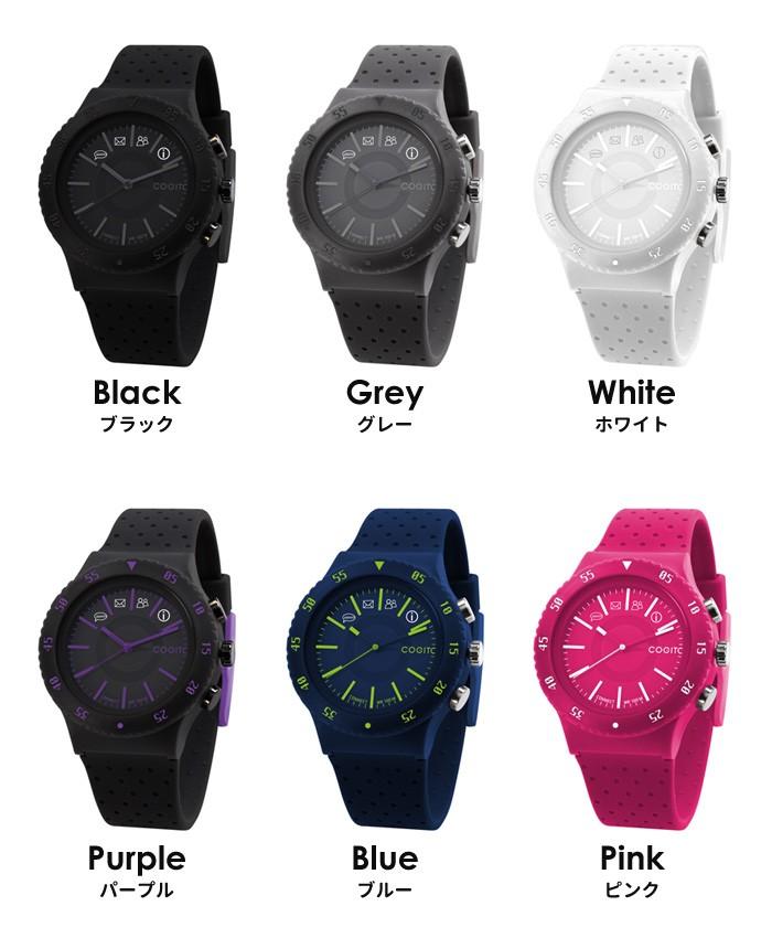 d2f94fadac スマホと連動して、電話やメール、SNSの受信を知らせてくれる カラフルスマートなBluetooth Smart対応アナログ文字盤腕時計