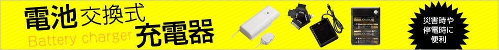 電池交換式充電器