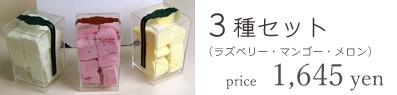 パティスリー「Taka Yanai」ギモーヴ3種セット