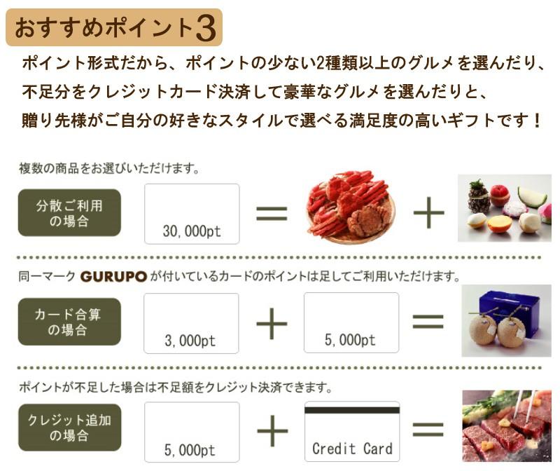 GURUPO(グルポ)おすすめポイント3・贈り先様がご自分の好きなスタイルで選べる満足度の高いギフト