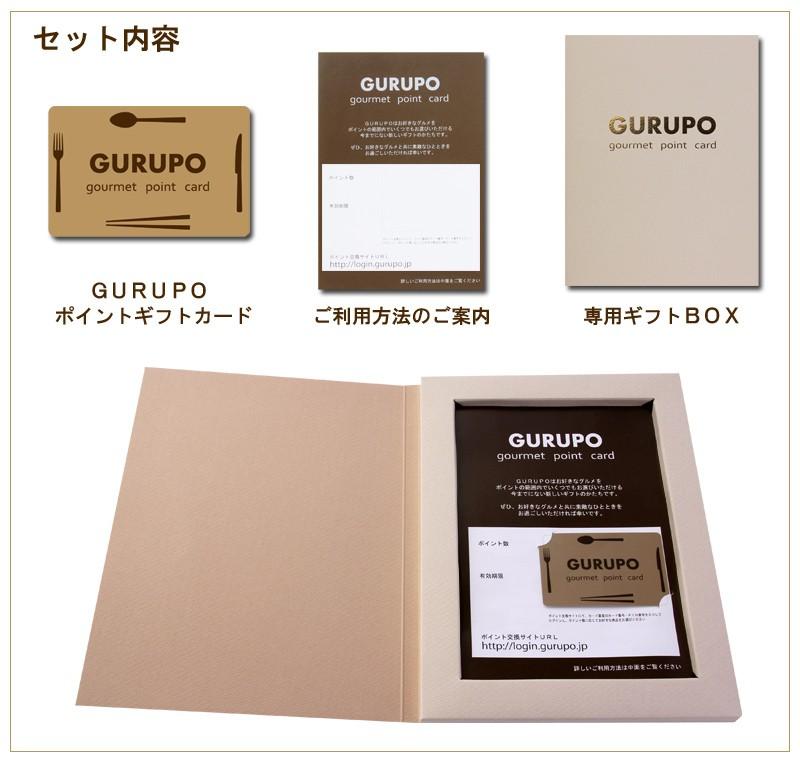 GURUPO(グルポ)セット内容・カード、ご利用方法のご案内、専用ギフトBOX
