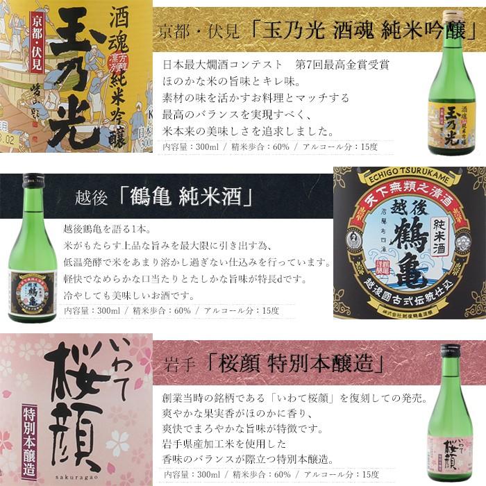 父の日プレゼント・日本酒 3種セット
