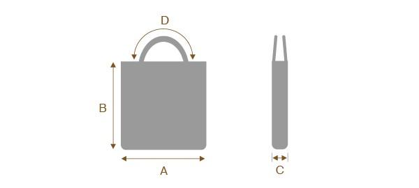 トートバックのサイズの測り方
