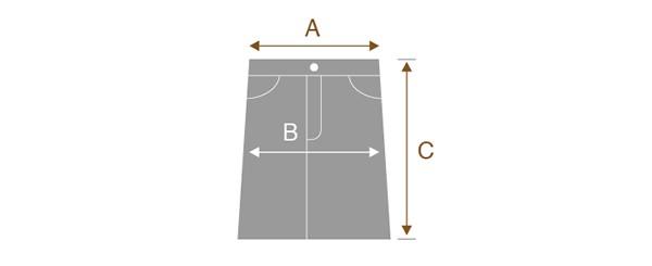 スカートのサイズの測り方
