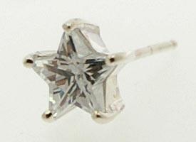 シルバーアクセサリー 星のピアス キュービックジルコニア