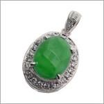 フルオーダー|緑石ネックレストップに