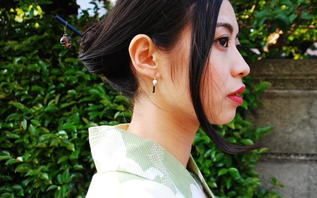 あこや 1粒パール ネックレス ハート型 アコヤ真珠 レディース K18 着用