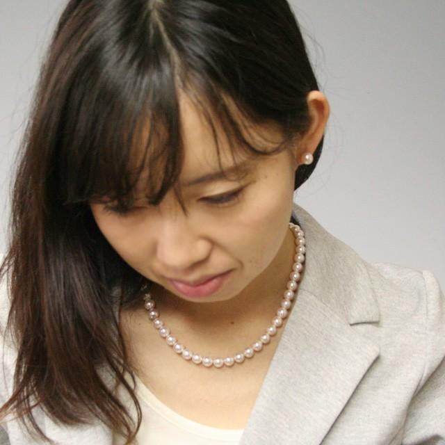 アコヤ真珠 ネックレス スーツに