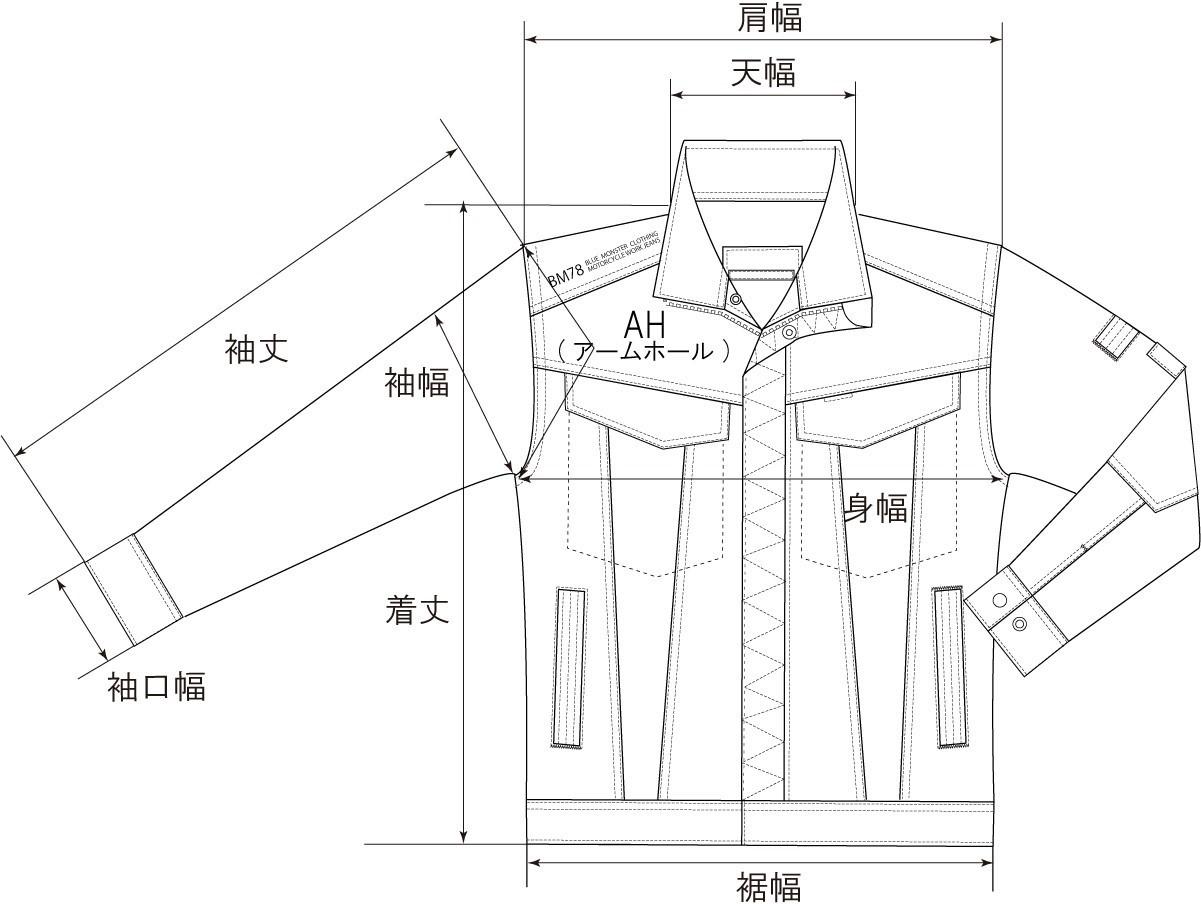 ジャケットサイズ
