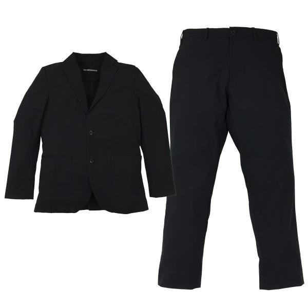 スーツ 上下セットアップ メンズ 吸水速乾 ストレッチ 家庭洗濯 BMC ビジネス オフィス ジャケット パンツ 空冷式スーツ ブラック/ネイビー/グレー M-LL bmc-tokyo 14