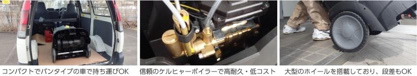 高圧ホース・トリガーガンと本体を接続