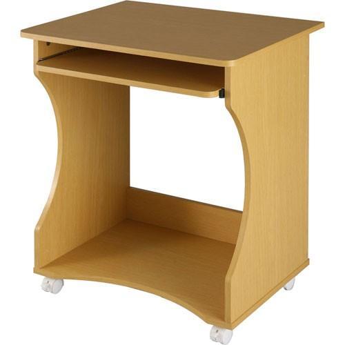 パソコンデスク オフィスデスク PCデスク パソコンラック シンプル 省スペース 木製 コンパクト サイドテーブル キャスター付き おしゃれ 収納 幅60|bon-like|24