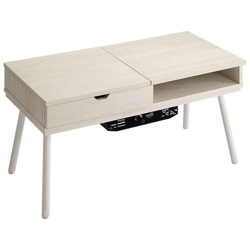 化粧台 ドレッサー テーブル おしゃれ 鏡台 ミラー コンパクト ローテーブル 木製 北欧 ガラス 白 センターテーブル メイク台 コスメ台 一面鏡 かわいい 幅80cm|bon-like|22