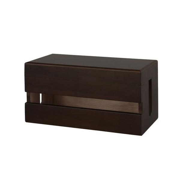 ケーブルボックス ケーブルホルダー コード収納 ケーブル収納 コンセント収納 電源タップ 木製 おしゃれ ケーブルBOX|bon-like|09