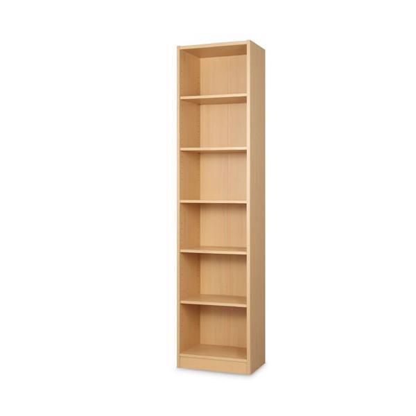 本棚 書棚 おしゃれ 大容量 収納 ラック 棚 木製 収納棚 幅44 A4 漫画 コミック CD 180cm 6段 省スペース ディスプレイ ブックシェルフ|bon-like|20