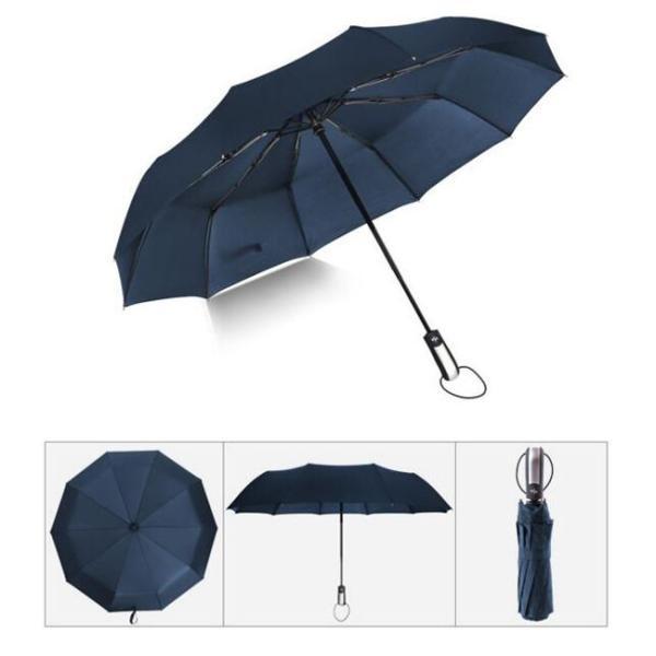 クーポン対象 好評 自動開閉 折りたたみ傘  10本骨 折り畳み傘 日傘 完全遮光 軽量 メンズ レディース 大きい 超軽量 ワンタッチ 丈|bonito|15