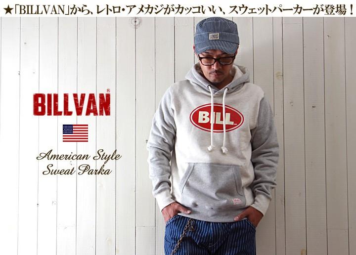 BILLVAN/ヘビースウェット/BILLプリント/プルパーカー/COTTON USA