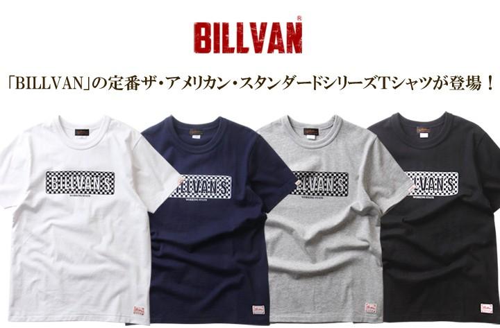 Tシャツ BILLVANアメリカンスタンダード/チェッカーフラッグ/プリントTシャツ/28132