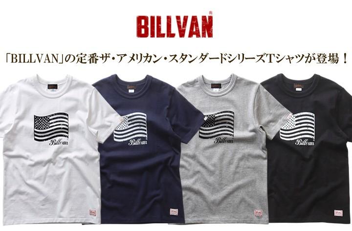 Tシャツ BILLVANアメリカンスタンダード/パトリオットフラッグ/プリントTシャツ/28133
